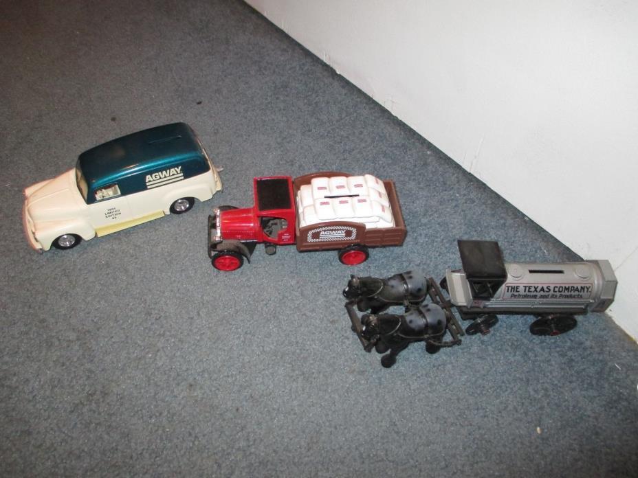 Agway Limited Addition Banks 1991 '91 & '95 Addition 9 & 10 Ertl GMC & Kenworth
