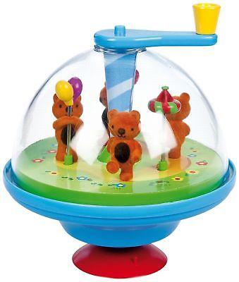 Bolz 52770 - Bear Friends Musical Spinning Top NEW