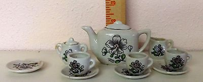 VINTAGE TEA SET  FOR  A DOLL MADE IN JAPAN 8 PIECES