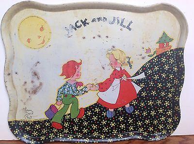 Ohio Art Tin Tea Tray Fern Bisel Peat Jack and Jill