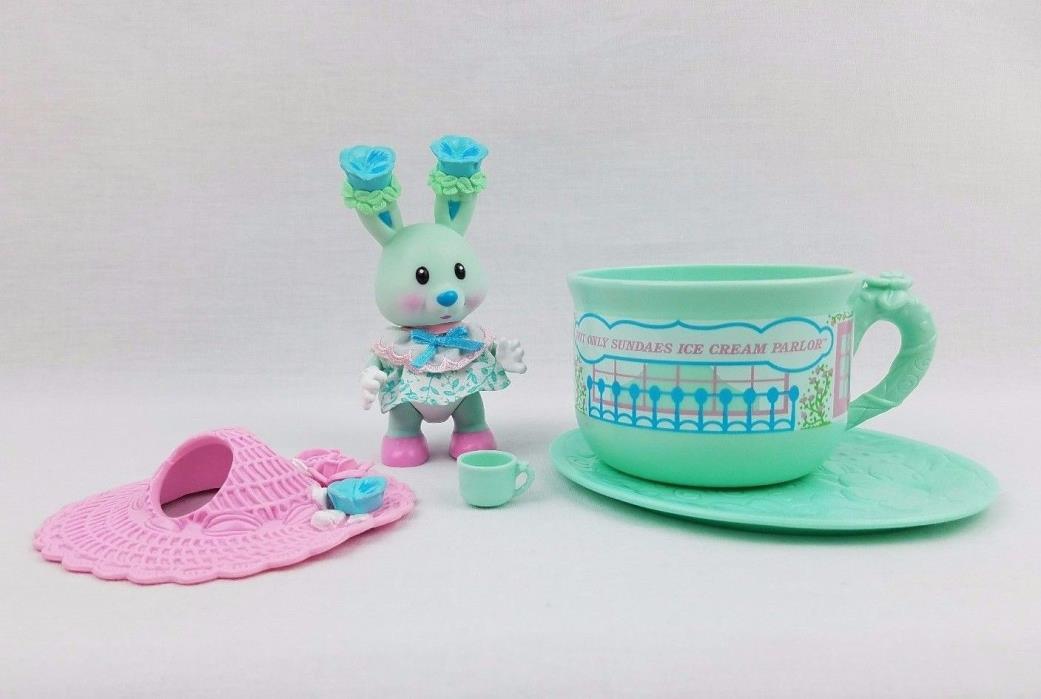 Vintage Tea Bunnies Pansy Parfait Ice Cream Parlor Cup Saucer Uneeda KidsView