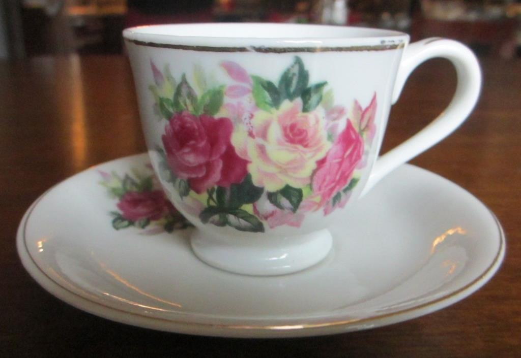 Vintage Ceramic cup and saucer, 1960's