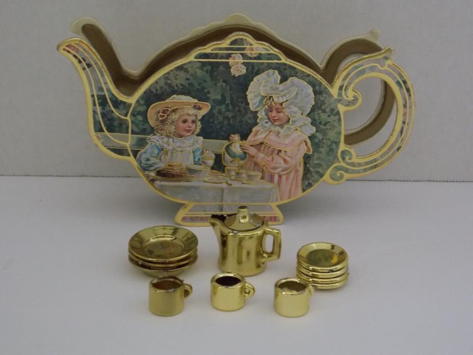 Vintage ~ 1983 Tea Set Container & Tea Set ~ B. Shackman & Co