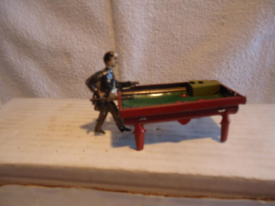 1900's Tin Billiards / pool table  Germany penny toy Kellerman antique