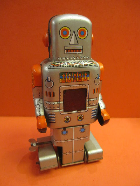 ALL ORIGINAL SY YONEYA MECHANICAL WALKING ROBOT SPACE TOY 1965
