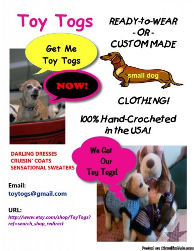 HANDMADE small dog CLOTHING by Toy Togs