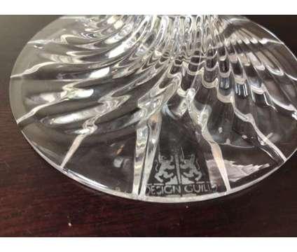Signed Magda Nemeth Design Guild Crystal Amethyst Compote Bowl