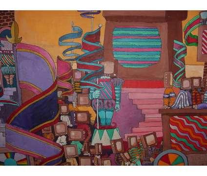 Outsider Art Painting Bruce Macdonald TV Head People