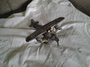 antique 1930 s ARCADE ? toy airplane (col hts)