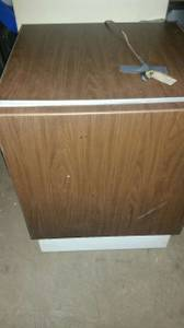FREEZER BROWN SEARS 32 INCHES HIGH WORKS PERFECT CLEAN (NE phila)
