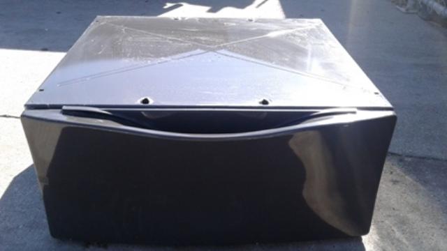 Black Washer Dryer Pedestal Drawer 27-INCH