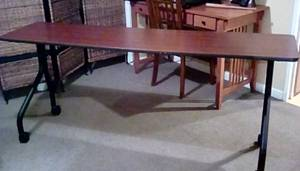 Long table on wheels (Milwaukee)