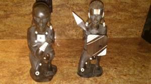 African solid wood statues (Upper marlboro)