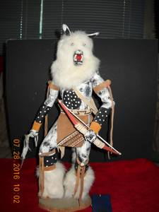 Wolfman Kachina Doll by Leroy Henderson (Aztec, NM)