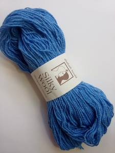 Wool/Silk Yarn, Elsebeth Lavold Silky Wool, DK, Sky Blue, 10 skeins (Hopkins)