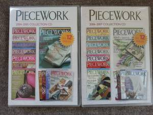 Piecework Magazine CD Collection 2004-2007 Brand New!!! (Hopkins)