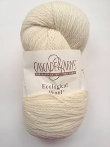 Cascade Ecological 100% Wool Yarn, Cream, 4 skeins, Bulky (Hopkins)