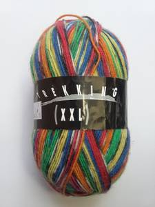 Zitron Trekking XXL Sock Yarn, Rainbow, Wool/Nylon, 459 yards (Hopkins)