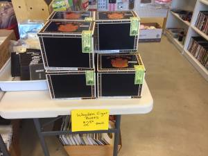 PUNCH Wooden Cigar Boxes ($2.50 each) (Greenwood)