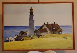 Edward Hopper Lighthouse Print - Framed (Indianapolis)