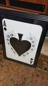 4 large frame playing cards great for man cave or The Gambler in your (Burien)