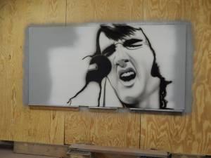 Elvis Painting (Rockaway Beach)