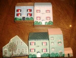 6/$5.00---- Handmade Village Houses (Bay Ridge, Brooklyn)