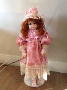 2ft Beautiful doll on Strong Sturdy stand exceptional condition
