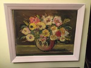 Shabby chic vintage painting (White Plains)