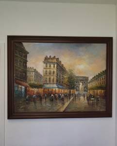 Large Paris Oil Painting 52 inch x 42 inch (Las Vegas)