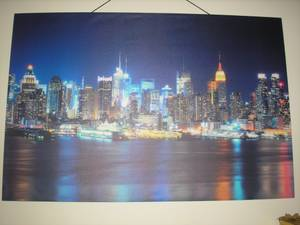 New York City, New York canvas painting 50x39 (River Rouge, MI)