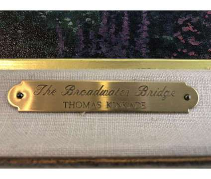 Autographed Numbered The Broadwater Bridge painting by Thomas Kinkade