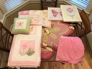 Pottery Barn Girls Butterfly Bedroom Set (Rock Creek)