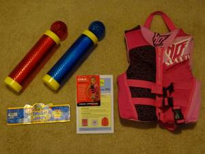 $ Drop-Excellent Clean Condition - Life Vest and Water Shooters......