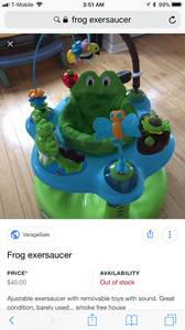 Frog stationary saucer (Lincoln Village)