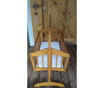 Vintage-Antique Cradle w/ Mattress