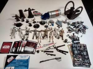 STAR WARS Lot Toys Figures Droid Jedi Lightsaber Launcher Pocketmodel