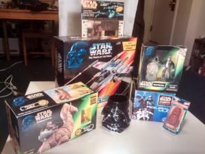 STAR WARS LOT:NEW BOXED Vintage X-Wing,Film Frame,Jawa,Hans Solo,Darth