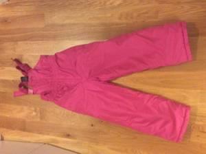 Pink snow bibs size 6-6x