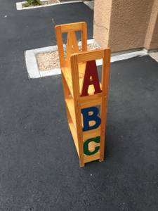 A B C Child Ladder Bookcase (SW)