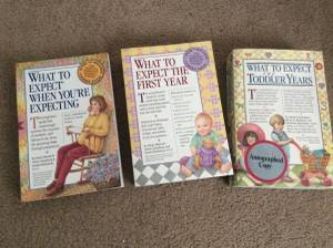 Pregnancy and baby books