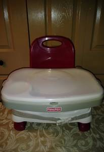 Fisher price Healthy Care Deluxe Booster Seat portable high chair (pompano