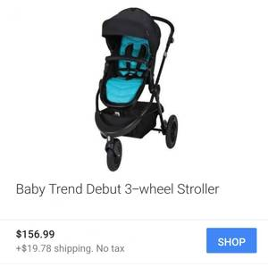 Brand New Baby Trend Debut Sport 3 Wheel Stroller W/ Bassinet (N. Thornton)