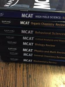Kaplan MCAT 7-Book Subject Review 3rd Edition + Solutions +Quicksheets