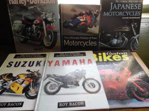 6 Classic motorcycle books (nw okc)