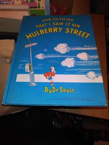 Read whole ad, first edition dr. Seuss it happened on Mulberry Street