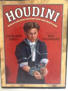 HOUDINI Book - Kathleen Krull - Magician Mystery Escape Magic (Maryland &