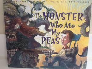 MONSTER WHO ATE MY PEAS Book - Schnitzlein - Childrens Kids 2001 (Maryland &