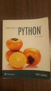 Starting out with Python 4ed by Tony Gaddis!OBO! (Arlington)