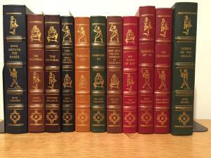 Thirteen Leather-Bound Books from the Baseball Hall of Fame Library (Gig Harbor)
